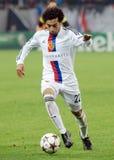 Mohamed Salah durante o jogo da liga dos campeões Foto de Stock Royalty Free