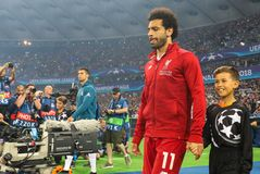 Mohamed Salah futbolista Liverpool FC zdjęcia stock