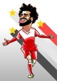 Mohamed-salah Karikaturvektor lizenzfreie stockfotos
