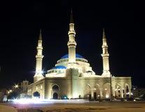 Mohammad al-Amin moské i centrala beirut lebanon Arkivfoton