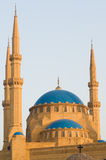 Mohammad Al-Amin Mosque. The Mohammad Al-Amin Mosque in downtown Beirut, built between 2002 and 2007 by the former Lebanese Prime Minister Rafik Hariri, who was Stock Photo