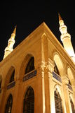 Mohammad Al-Amin Mosque  Beirut Lebanon. Corner of Mohammad Al-Amin Mosque in downtown Beirut, built between 2002 and 2007 by the former Lebanese Prime Minister Royalty Free Stock Photo