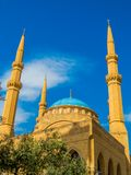 Mohammad Al-Amin Mosque in Beirut, Lebanon. View of the Mohammad Al-Amin Mosque in Beirut, Lebanon Royalty Free Stock Photography