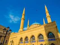 Mohammad Al-Amin Mosque in Beirut, Lebanon. View of the Mohammad Al-Amin Mosque in Beirut, Lebanon Royalty Free Stock Image