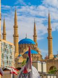 Mohammad Al-Amin Mosque in Beirut, Lebanon. View of the Mohammad Al-Amin Mosque in Beirut, Lebanon Stock Photography