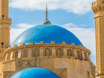 Mohammad Al-Amin Mosque in Beirut, Lebanon. View of the Mohammad Al-Amin Mosque in Beirut, Lebanon Royalty Free Stock Photo