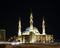 Mohammad Al Amin Mosque landmark in central Beirut city lebanon Royalty Free Stock Images