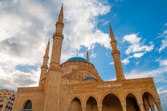Mohammad Al-Amin Mosque. The Mohammad Al-Amin Mosque situated in Downtown Beirut, in Lebanon. It is a beautiful structure, picturesque architecture, with blue Stock Image