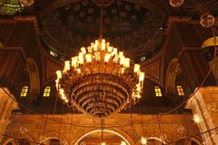 Mohammad Ali. (Alabaster Mosque) in Cairo, Egypt Royalty Free Stock Photo