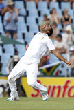 Mohammad Imran Tahir. South Africa Spin Bowler. After the second Wicket in the same over. From the South Africa vs Sri Lanka 1 Test Match on Thu 15 Dec 2011 Royalty Free Stock Images