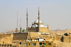 Mohammed Ali mosque. Mohammed Ali Alabaster mosque at Citadel in Cairo Stock Photos