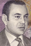 Mohammed VI of Morocco. (born 1963) on 20 Dirhams 2005 Banknote from Morocco. King of Morocco since 1999 Royalty Free Stock Photos