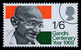 Mohandas Karamchand Gandhi Postage Stamp Royalty Free Stock Photos