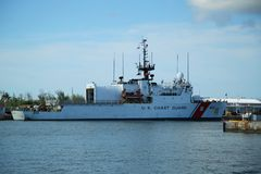 Mohawk резца службы береговой охраны Соединенных Штатов состыковал в Key West, Флориде Стоковое Изображение