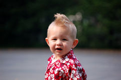 Mohawk Boy stock photo