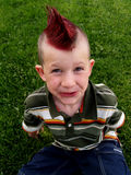 Mohawk boy royalty free stock images