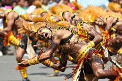 Mohawk de festival de Dinagyang Images stock