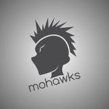 Mohawk guy silhouette Royalty Free Stock Photos