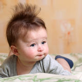 Mohawk hairstyle for baby Stock Photos
