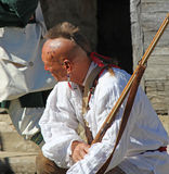 Mohawk Indian Guide - Reenactor. Mohawk Indian reinactor guide and scout Stock Image