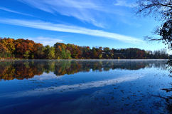 Mohawk Lake in the Fall Stock Images