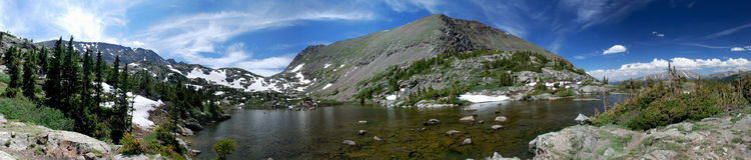 Mohawk Lakes Panorama royalty free stock photo
