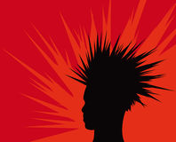 Mohawk man illustration Stock Photos