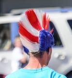 Mohawk rosso, bianco e blu fotografia stock