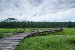 Mohe Arctic Village national park north of Lake bridges month Royalty Free Stock Image