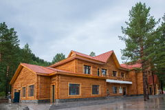 Mohe Arctic Village tourist reception center wooden houses Stock Image