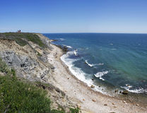 Mohegan Bluffs Block Island RI Royalty Free Stock Images