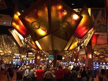 Mohegan Sun Casino & Hotel in Connecticut. USA. It is one of the largest casinos in the United States with 364,000 square feet of gaming space stock photography