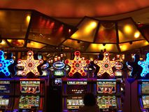 Mohegan Sun Casino & Hotel in Connecticut. USA. It is one of the largest casinos in the United States with 364,000 square feet of gaming space stock photo