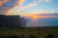 Moher和OBriens塔爱尔兰峭壁  库存图片