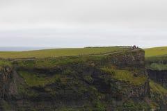 moher峭壁在克莱尔co 爱尔兰 免版税库存照片