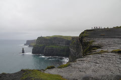 moher峭壁在克莱尔co 爱尔兰 免版税库存图片
