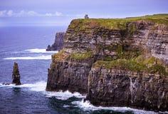 Moher,克莱尔,爱尔兰峭壁  免版税库存图片