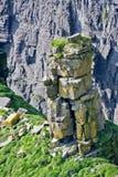 Moher,奇怪的岩层,县克莱尔,爱尔兰峭壁  图库摄影