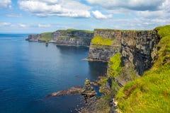 Moher,爱尔兰峭壁的  库存图片