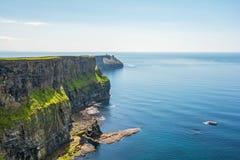 Moher,爱尔兰峭壁的  免版税库存图片