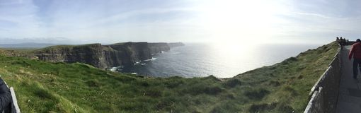Moher,爱尔兰美丽的峭壁  免版税图库摄影