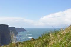 Moher, Burren地区,克莱尔郡,爱尔兰峭壁  免版税库存照片