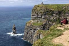 Moher -克莱尔郡-爱尔兰的峭壁 免版税库存图片