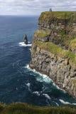 Moher -克莱尔郡-爱尔兰的峭壁 免版税库存照片