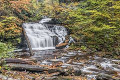 Mohican Falls at Ricketts Glen, Pennsylvania Stock Photo