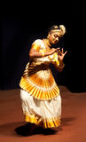 Mohiniyattam (Dance of the enchantress) performer Royalty Free Stock Photo