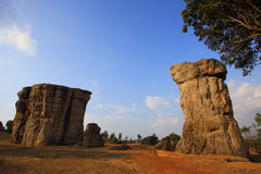 Mohinkhao Stone. At Chaiyaphum province thailand royalty free stock images