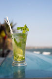 Mohito in a beach bar stock image