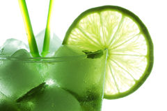 Mohito cocktail closeup Royalty Free Stock Image