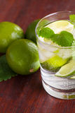 Mohito cocktail with lime and mint Stock Photography